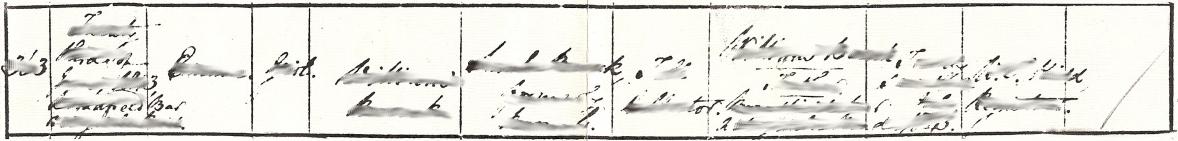 Birth Record, Emma Bocock, GRO